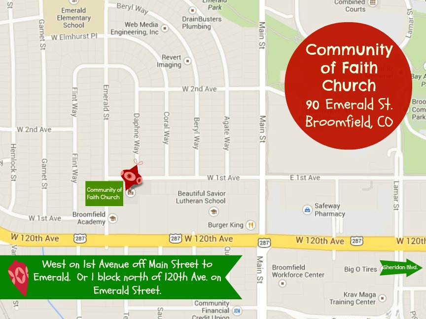 Community of Faith Map